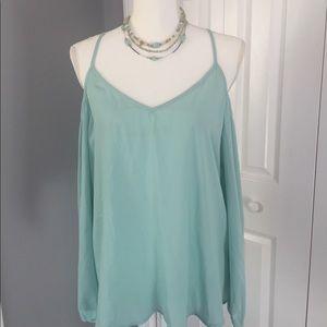 Socialite cold shoulder blouse